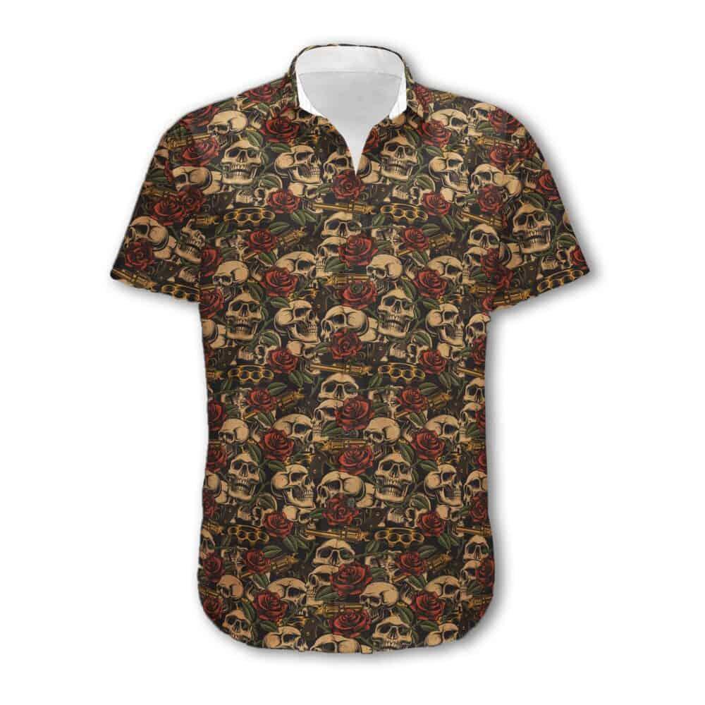 dress shirt skull 2K